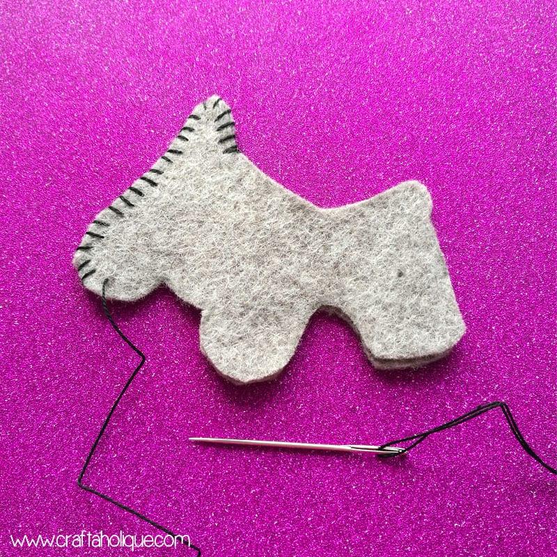 Felt Dog Keyring Project from Amazing Crafts