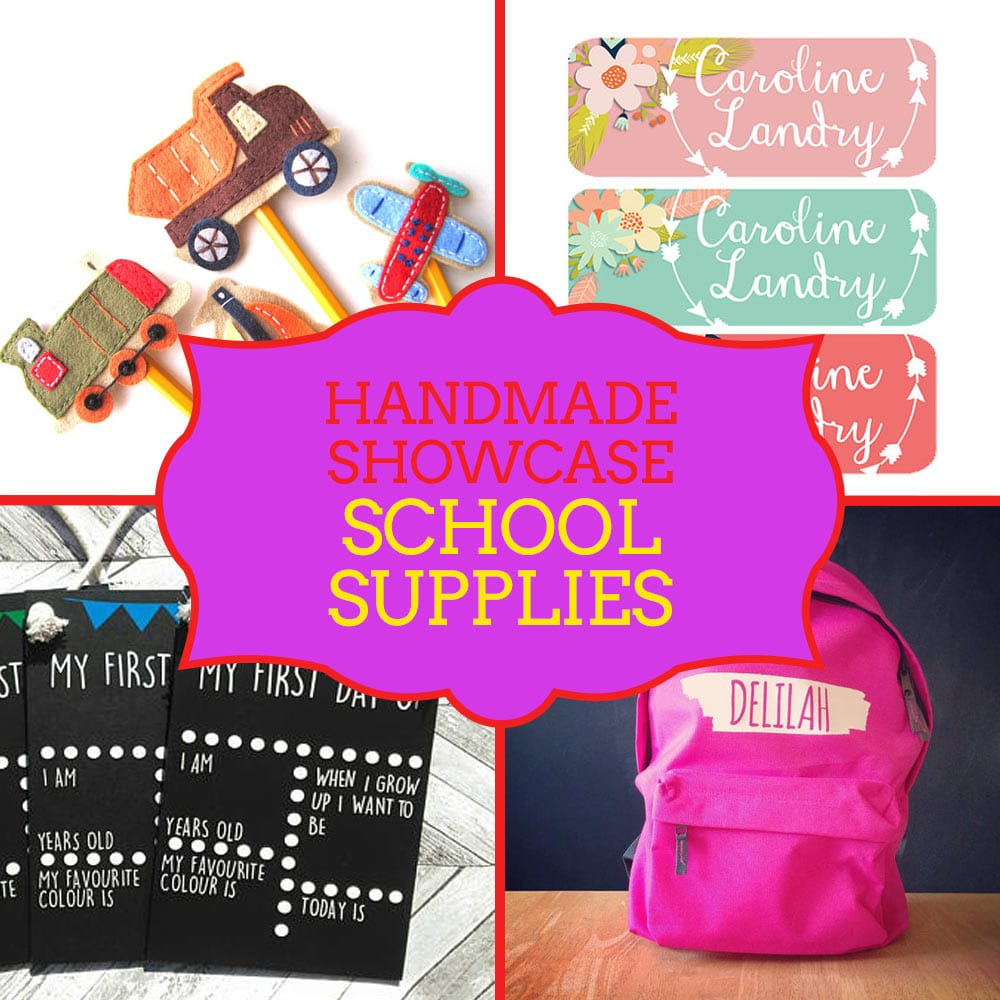 Unique back to school supplies - handmade showcase from Craftaholique