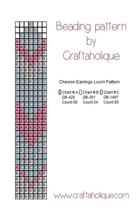 Chevron earrings pattern by Craftaholique