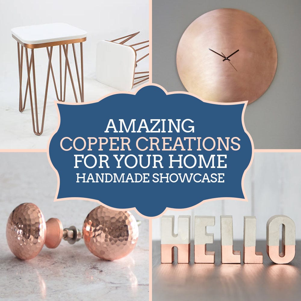 Copper Home Accessories - Copper Interiors Trend - Handmade Copper Products