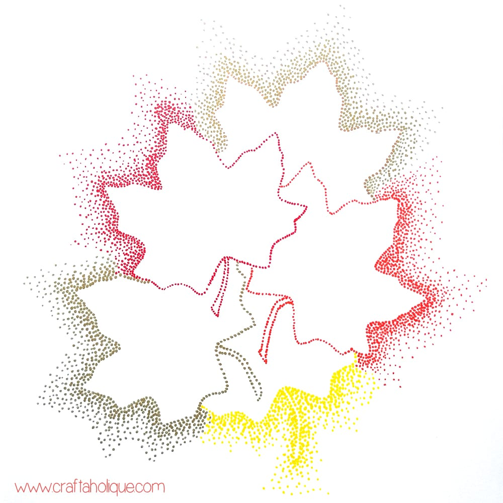 Autumn leaf craft - leaf art with sharpie pens by Craftaholique