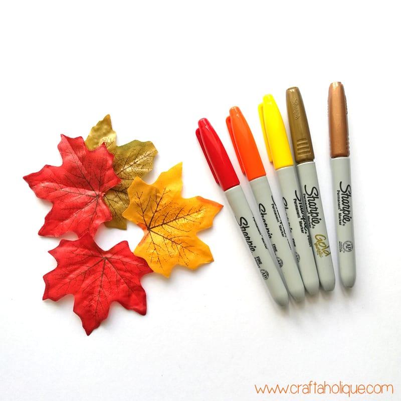 Leaf Art Craft Project with Sharpie Pens | Craftaholique