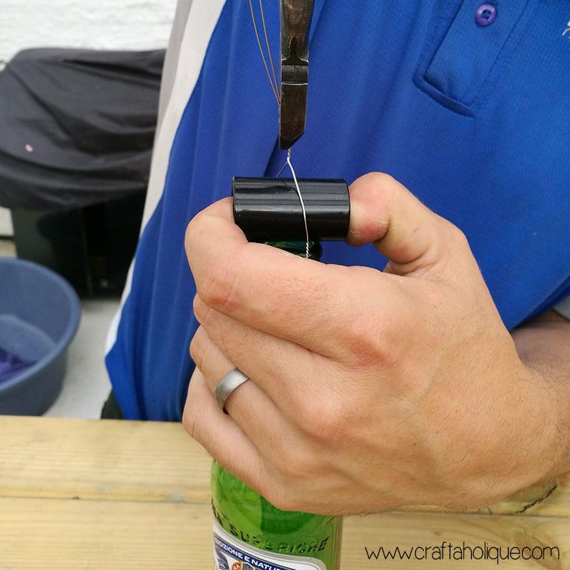 Man Cave DIY - beer bottle lights tutorial