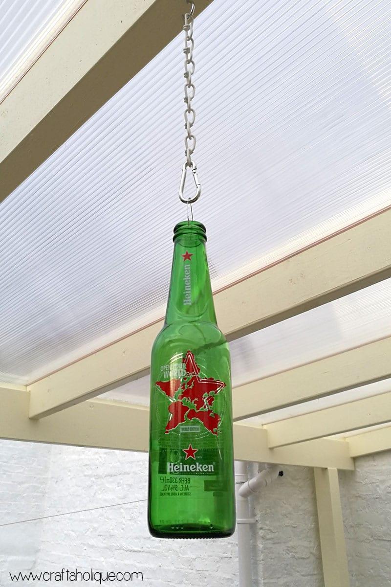 Beer bottle lights DIY