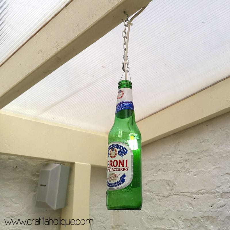 glass bottle lighting outdoor beer bottle lights tutorial by craftaholique bottle lights diy project
