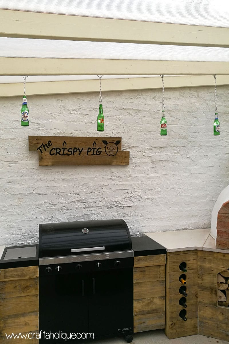 Beer bottle recycling - beer bottle lights project