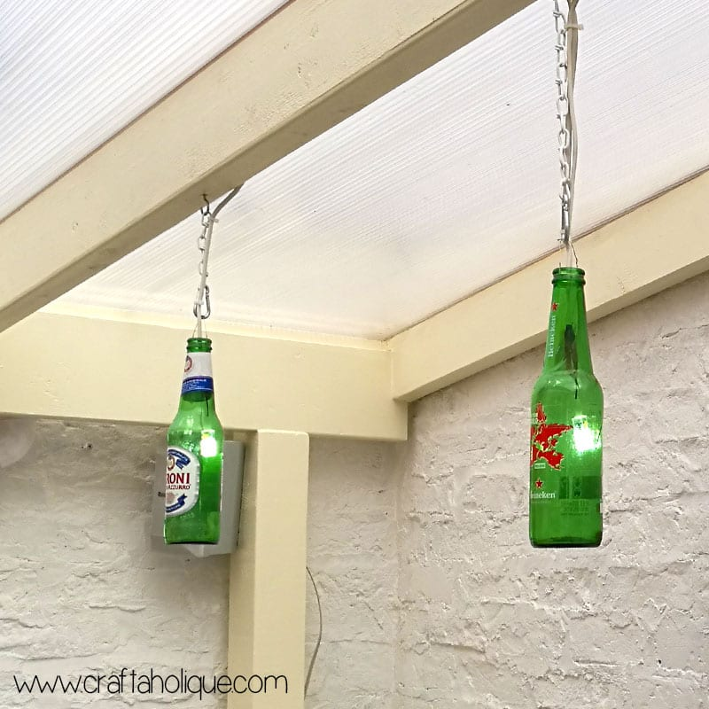 Beer Bottle Lights Diy Project Craftaholique