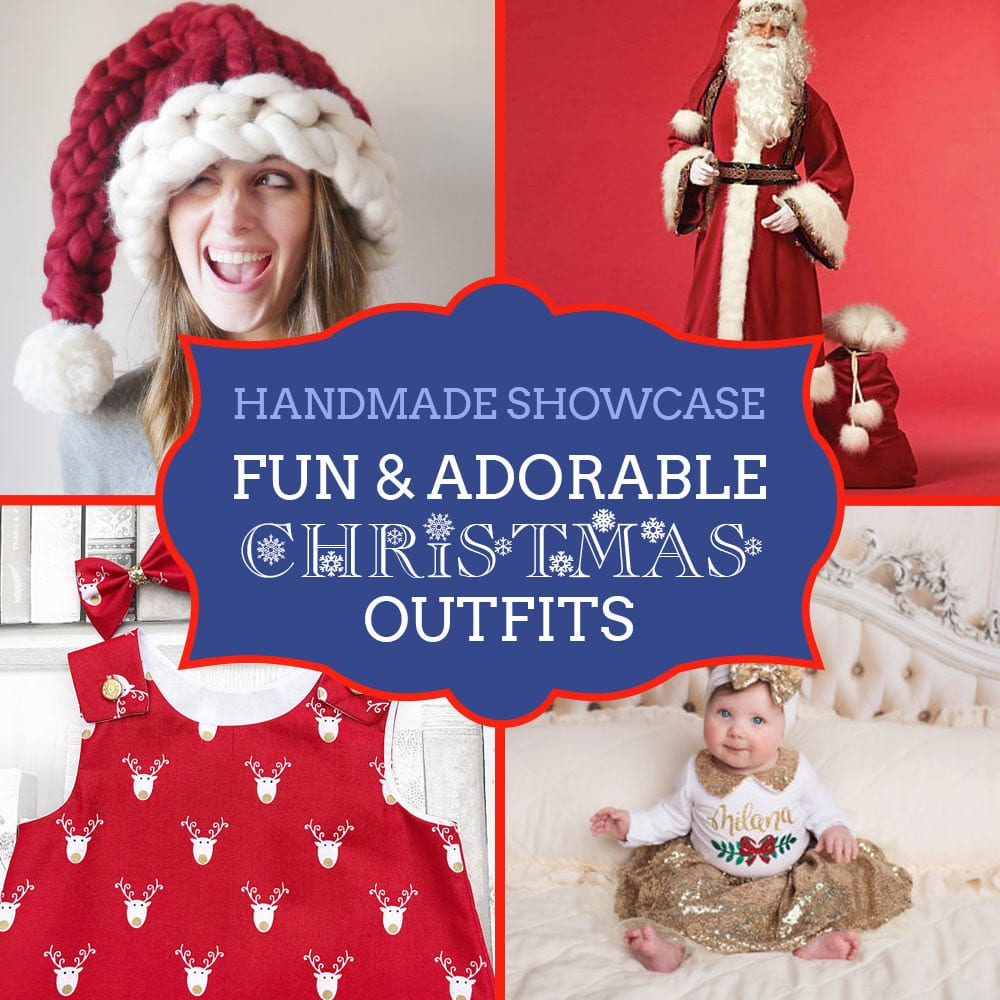 Handmade Christmas Outfits - a showcase from Craftaholique