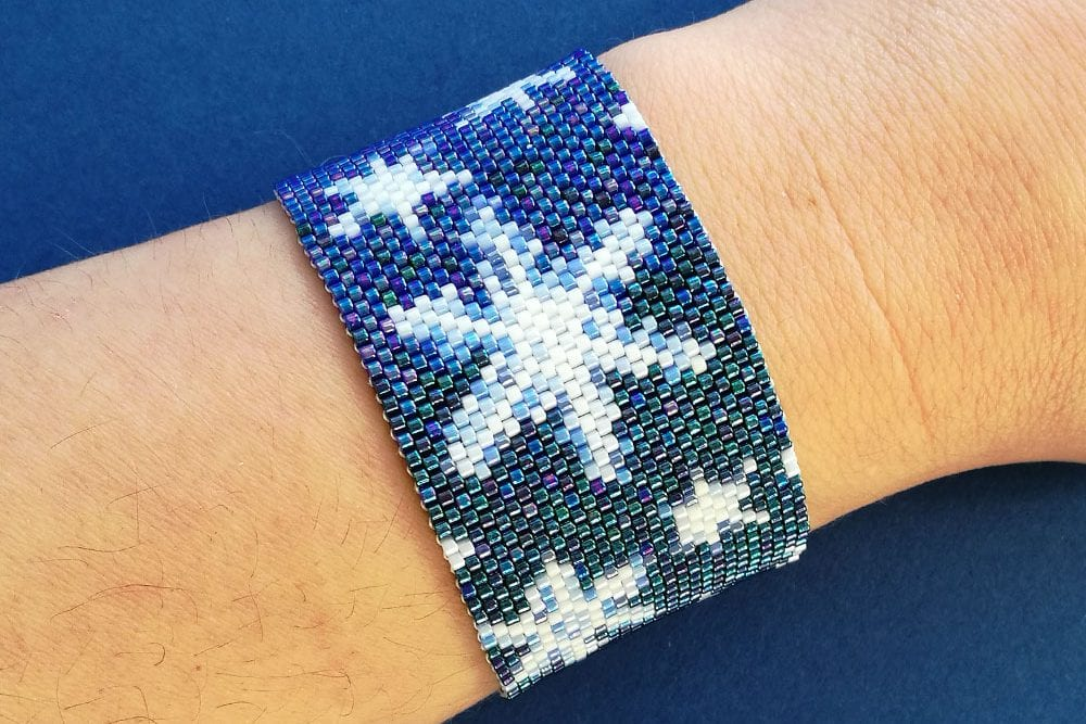 Snowflakes Peyote Stitch Beading Pattern Christmas Winter