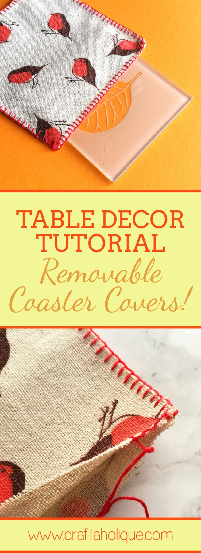 Christmas Winter table decor tutorial - coasters