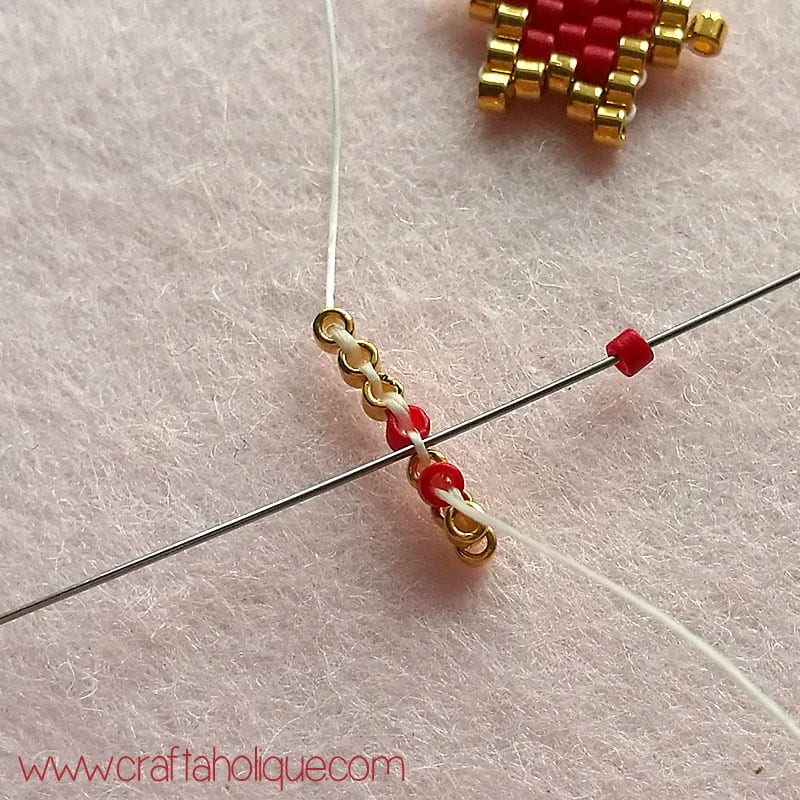 make to earrings stitch pin circular how brick
