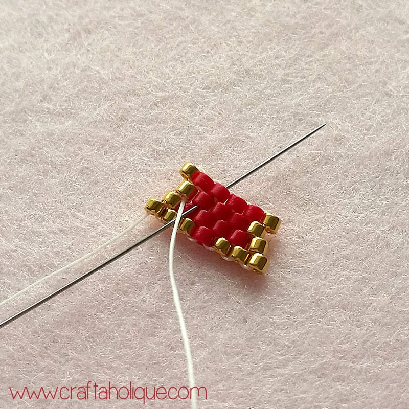 How to increase in brick stitch beadweaving technique