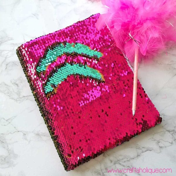 Reversible Mermaid Sequin Fabric Notebook Tutorial
