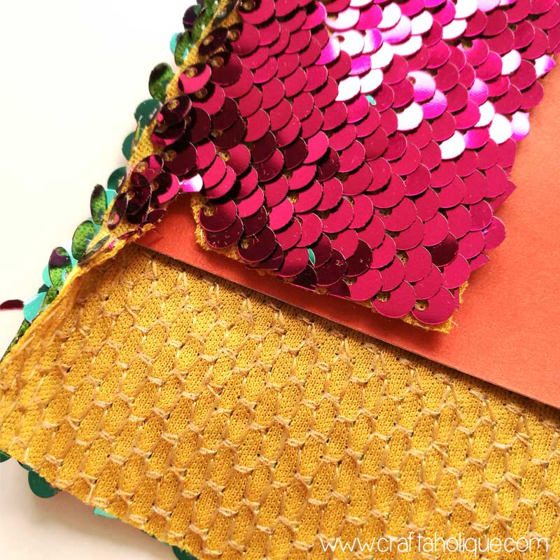Reversible Mermaid Sequin Fabric crafts