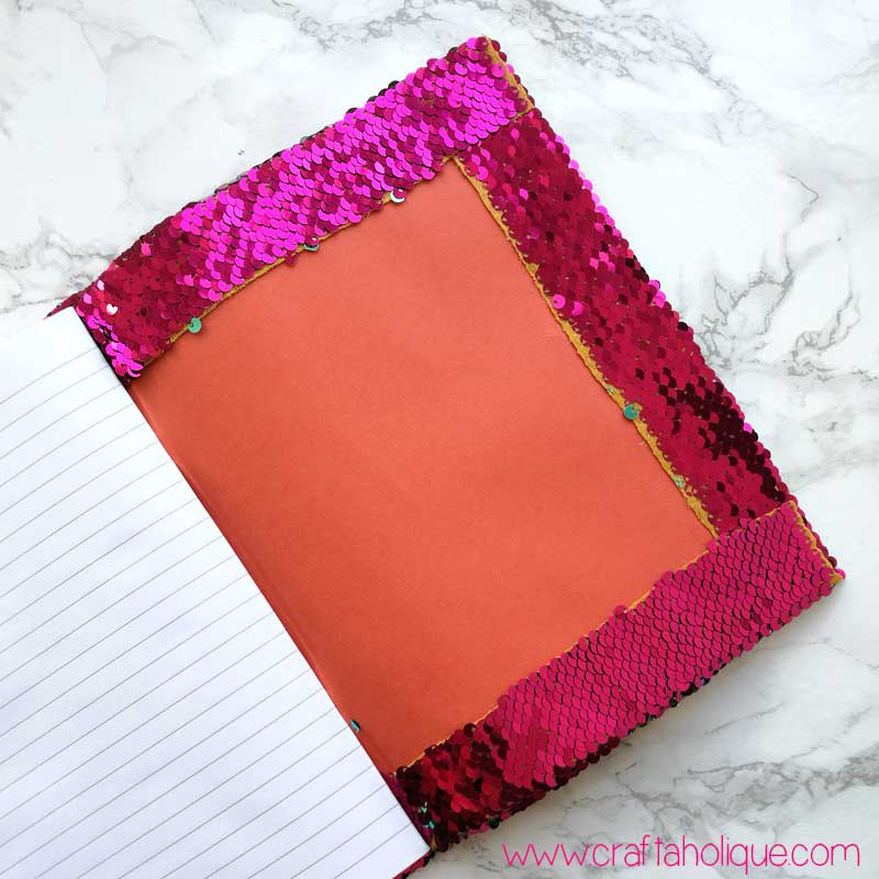 Mermaid Sequin Notebook Tutorial