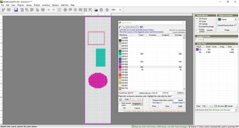 Creating a pattern with BeadCreator Pro 6