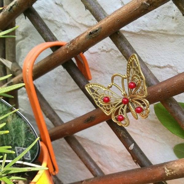 Beaded Butterfly Garden Decor Tutorial