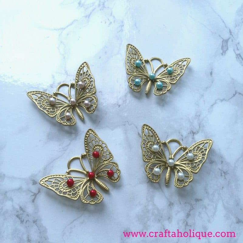 Garden crafts - beaded butterflies