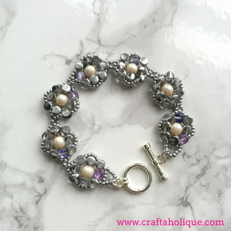 Pretty Pellet Bracelet by Kerrie Slade for Beads Direct