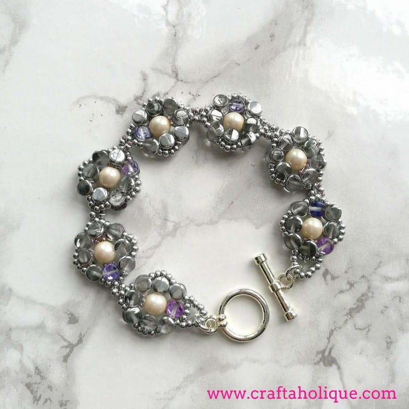 Pretty Pellet Bracelet by Kerrie Slade for Beads Direct