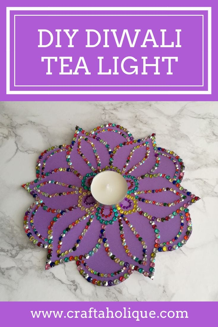 Diwali tealight craft project by Craftaholique