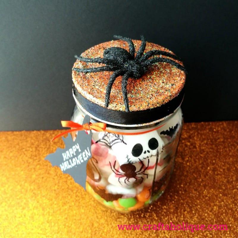 Halloween Sweetie Mason Jar Gift Idea