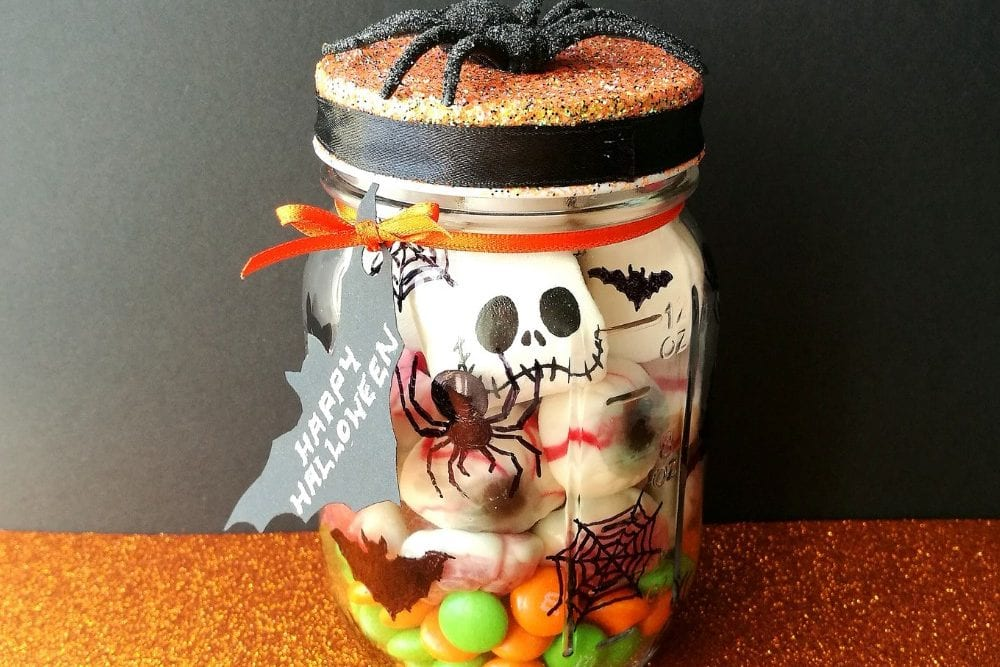 Halloween DIY: Sweetie Mason Jar Gift Idea (using Bostik Glu Dots)