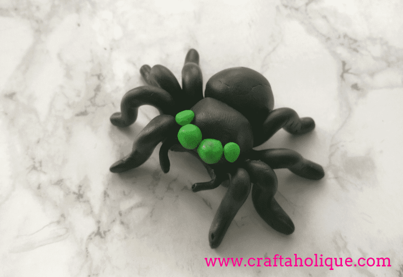 How to make a fimo clay spider Halloween project