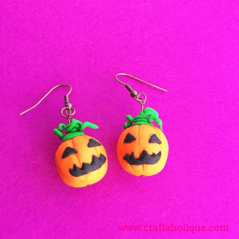 How to make pumpkin earrings