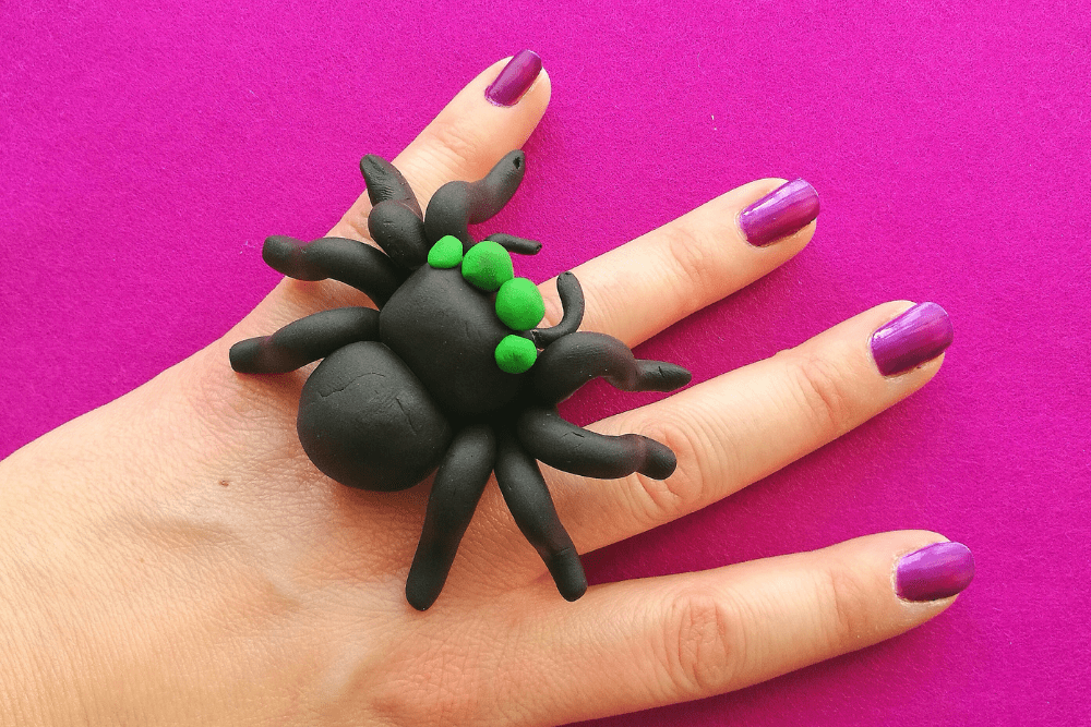 Halloween DIY: FIMO Clay Spider Ring and Pumpkin Earrings