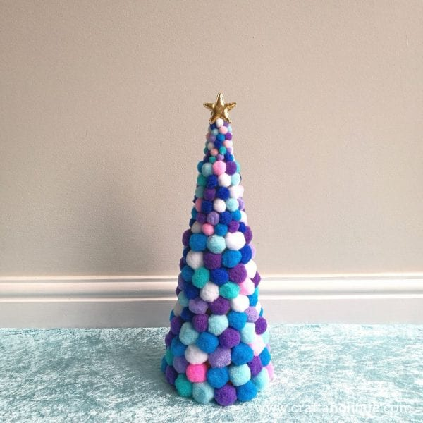 How to make a pom pom Christmas tree with Bostik White Glu