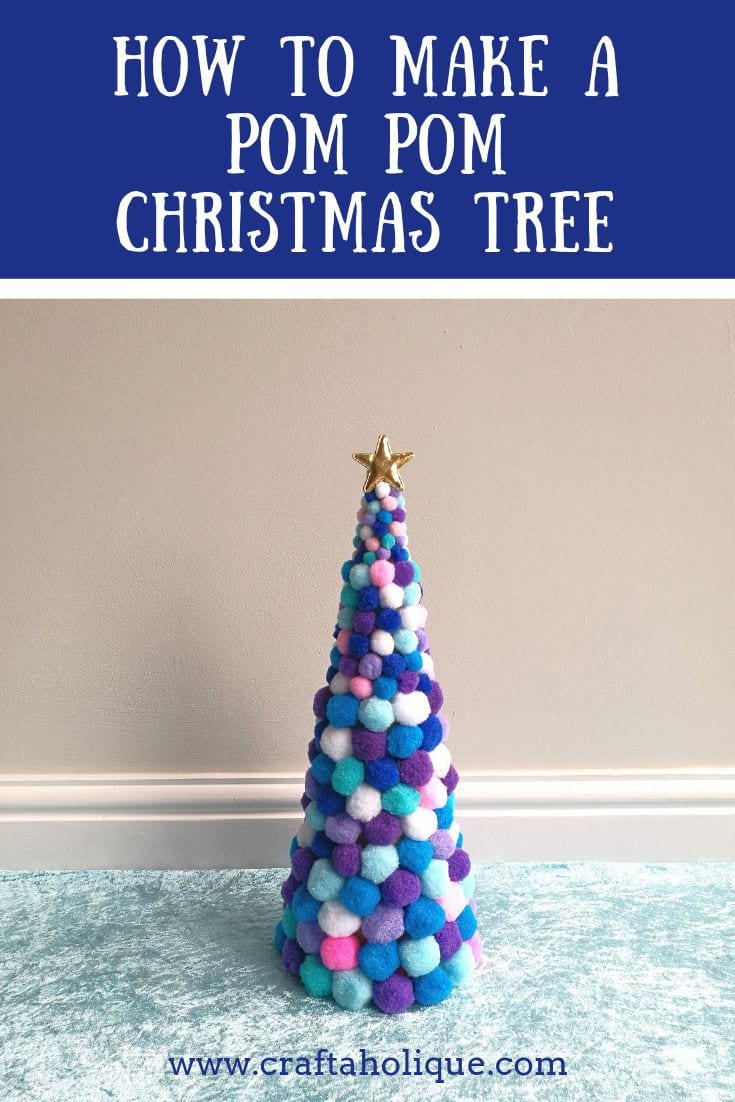 How to make a pom pom Christmas tree