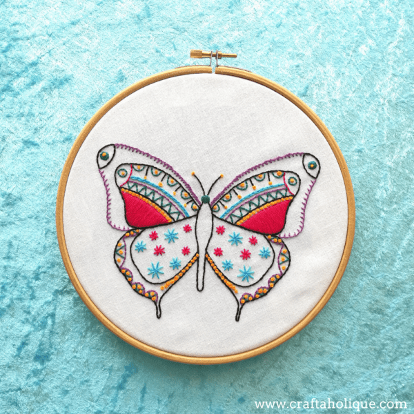 Butterfly Embroidery Kit Review – Hawthorn Handmade