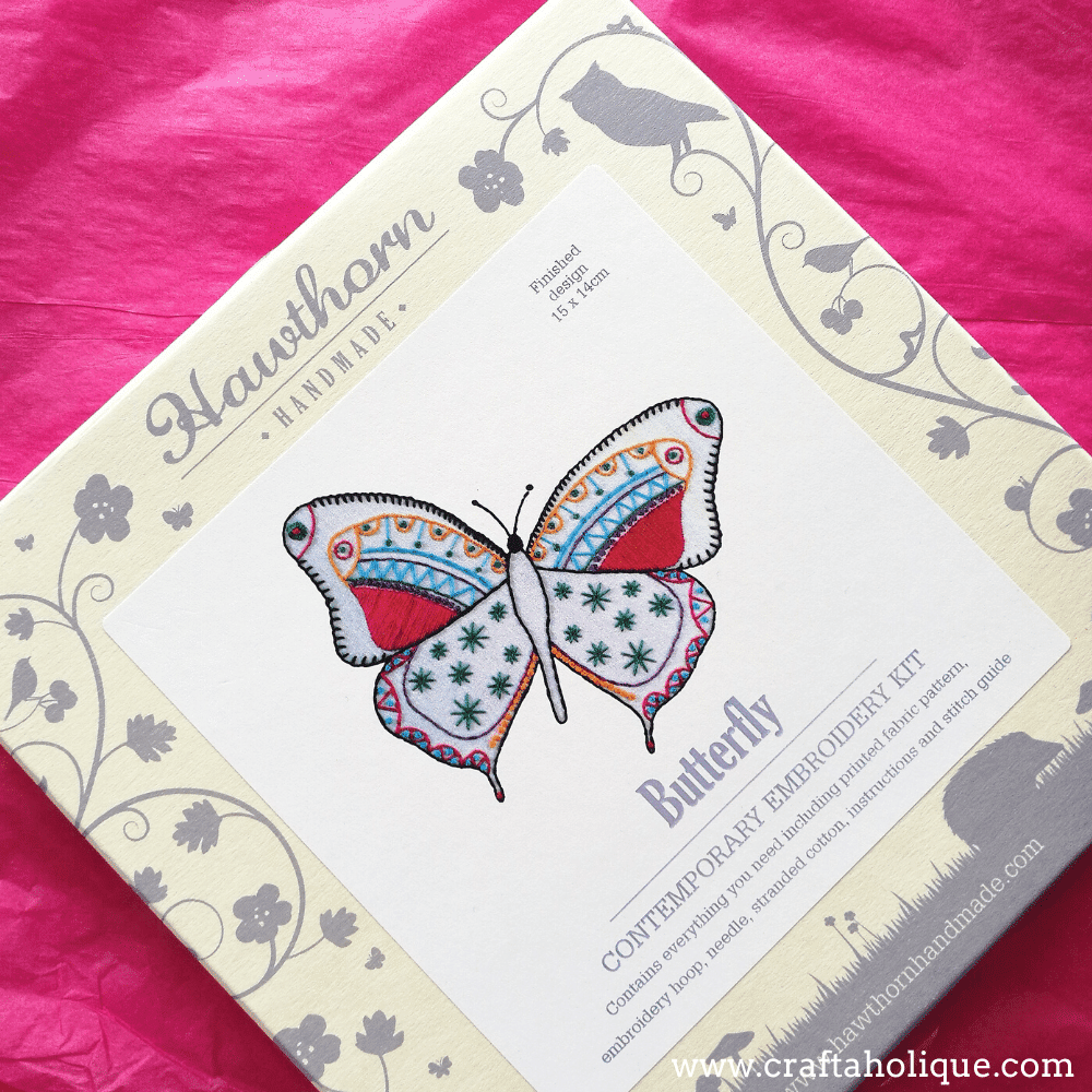 Hawthorn Handmade Butterfly Contemporary Embroidery kit outer packaging