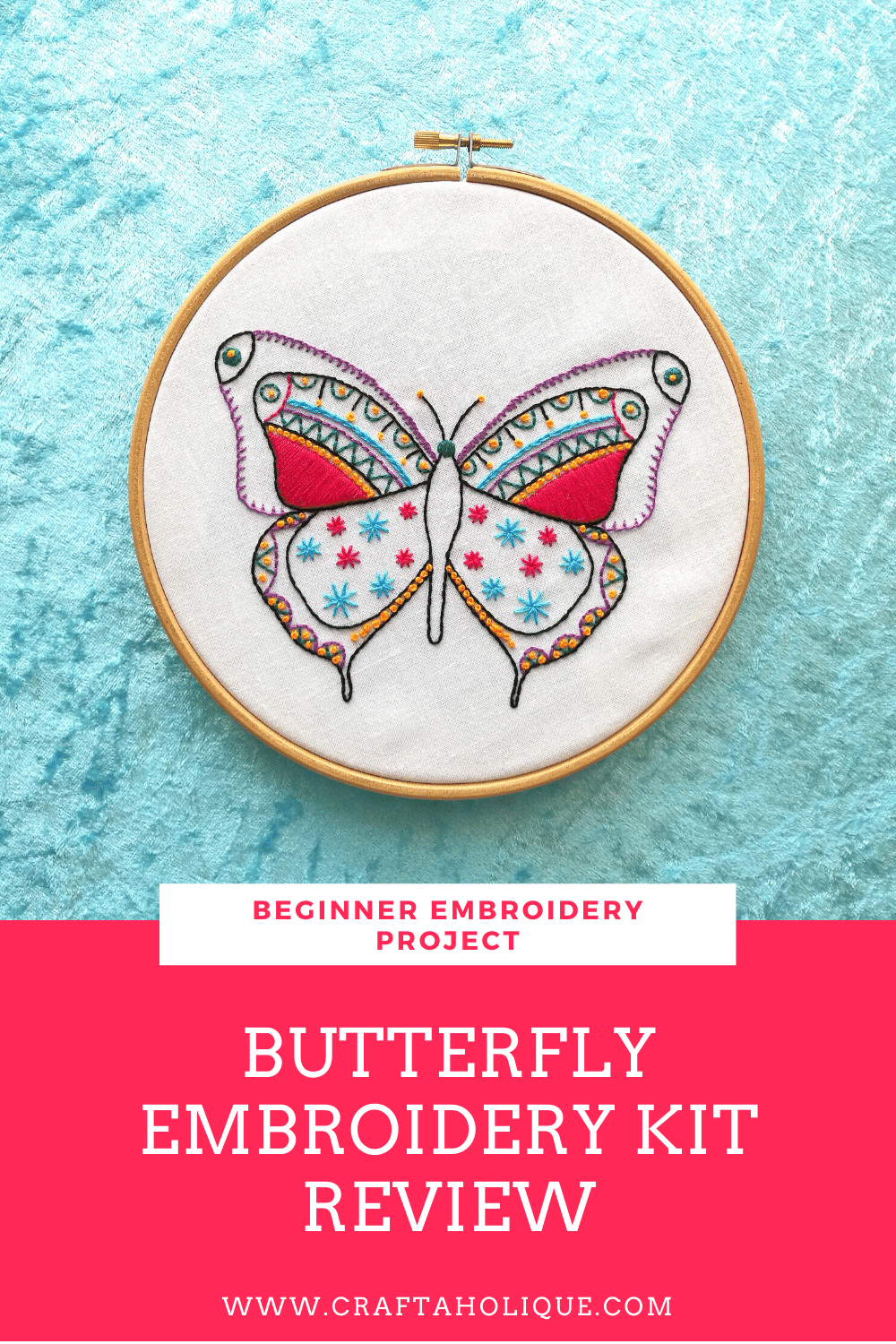 Beginner embroidery butterfly kit from Hawthorn Handmade! This article explains what I think of this kit, what's included in the kit contents, what the instructions are like and how to buy the kit itself.
