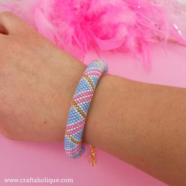 New Tubular Peyote Bracelet Pattern – Pastel Swirls
