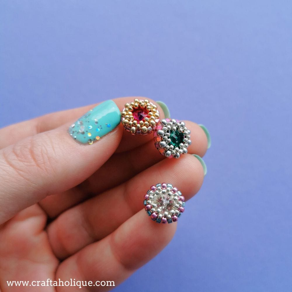 How to create a beaded bezel for a crystal rivoli.