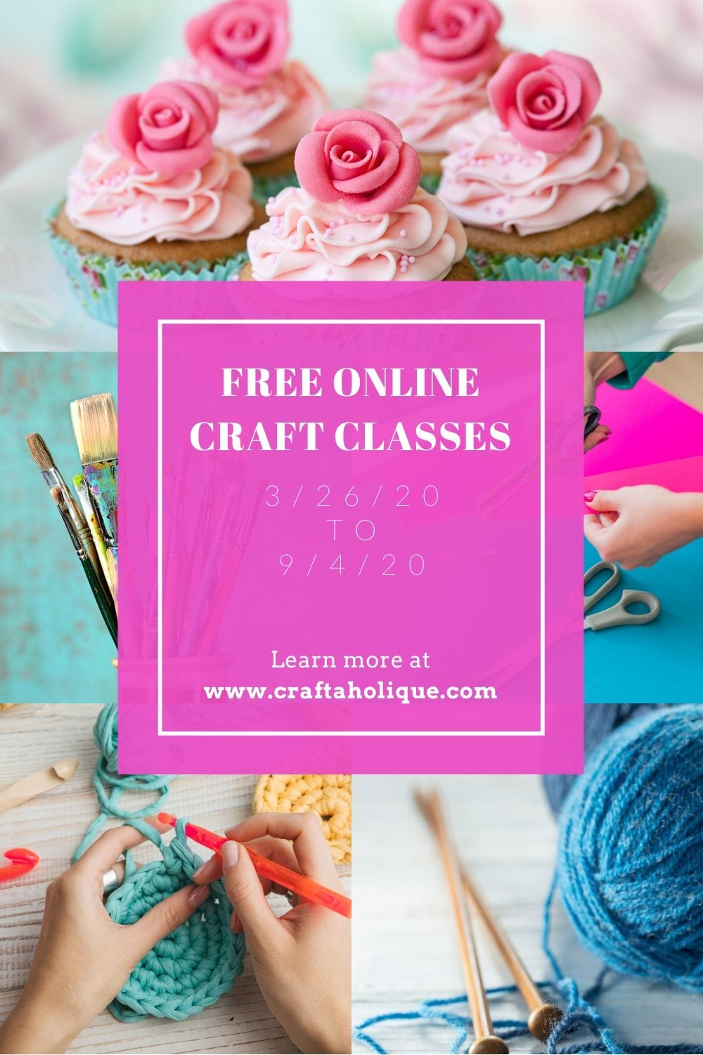 Free online craft classes at Bluprint - Craft More Happy Moments. Creativity Care Package in response to coronavirus COVID19.
