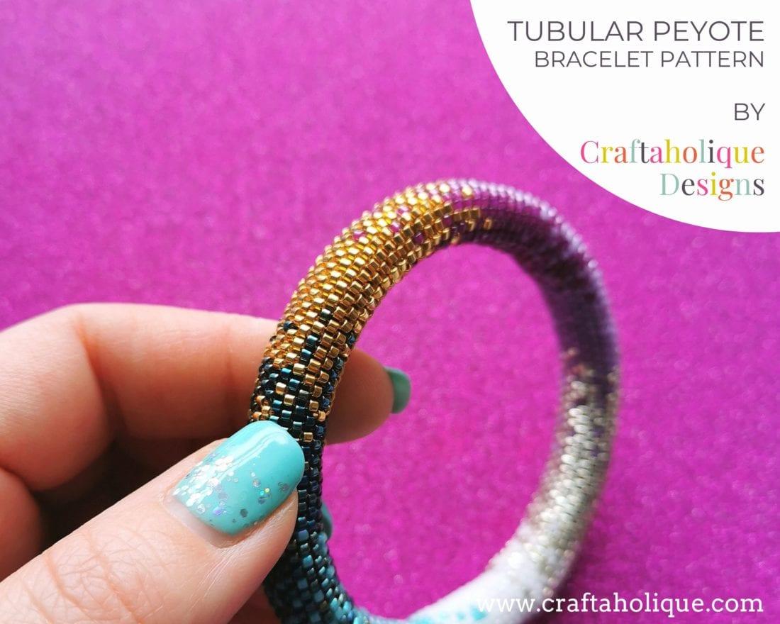 Colour Fusion tubular peyote pattern
