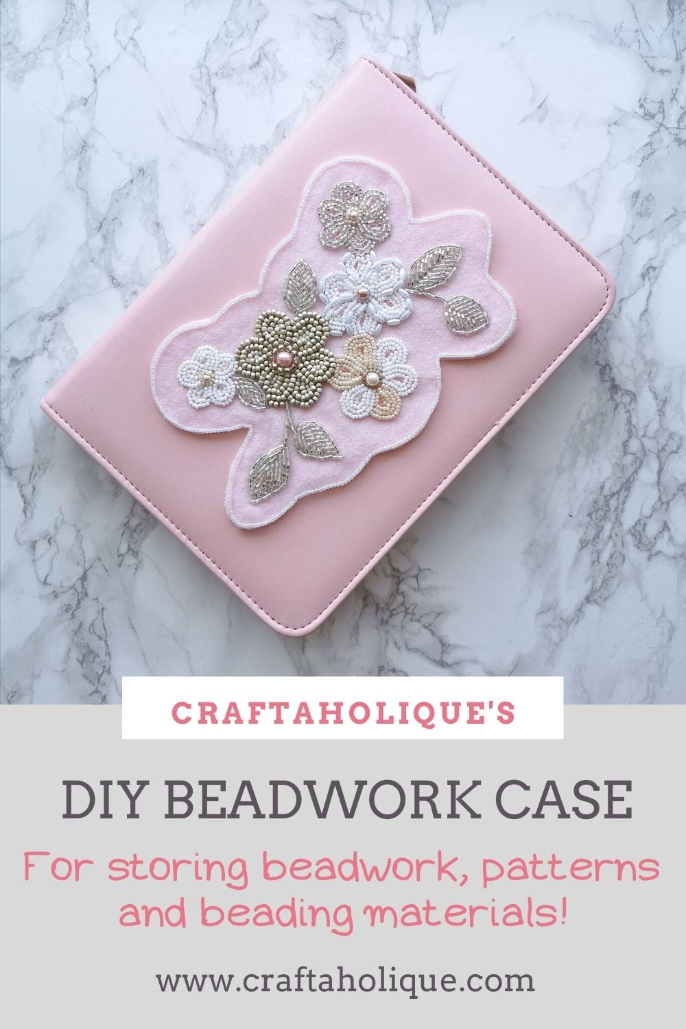 Learn how to make this 2-in-1 DIY beadwork case and beading mat. The inside contains a bead mat and a pocket for beads, threads, beading needles and patterns. Easily store your beadwork and transport it around with you so you can bead wherever you are!