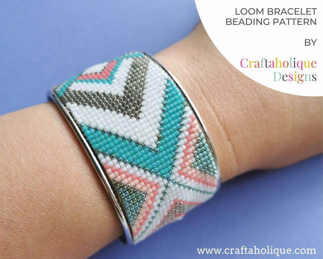 Bead loom bracelet pattern by Craftaholique